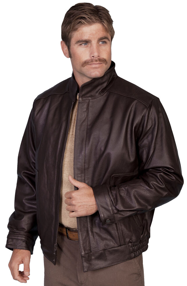 Scully Top Grain Calfskin Leather Jacket, Brown, hi-res