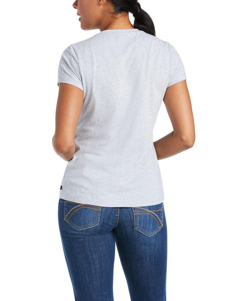 Ariat Women's Heather Grey HD Logo Short Sleeve Tee , Heather Grey, hi-res