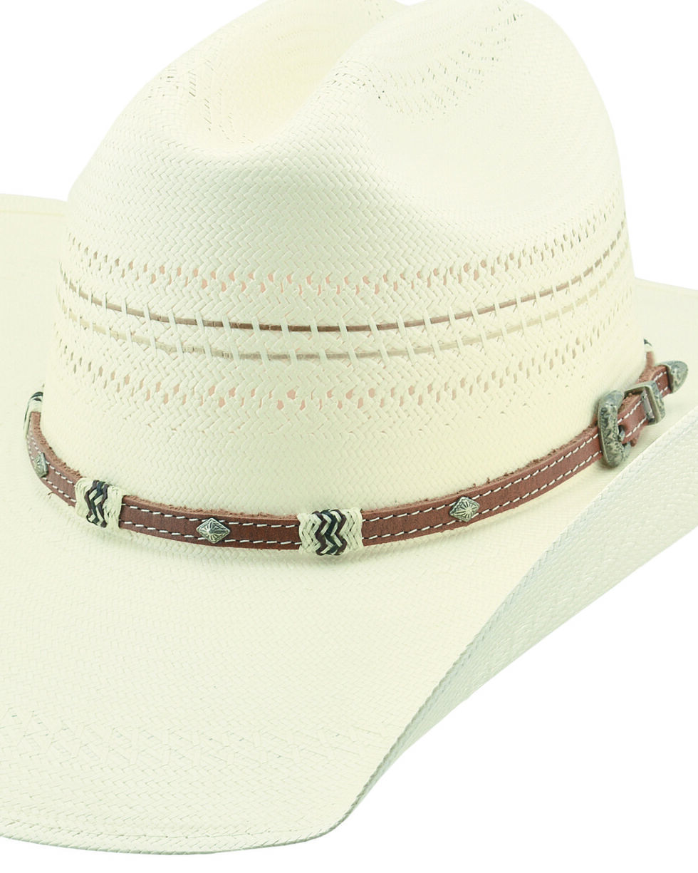 Larry Mahan 10X Mission Straw Cowboy Hat , Ivory, hi-res