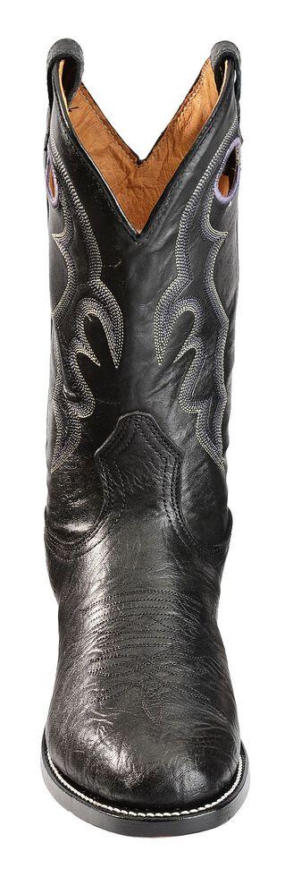 Boulet Black Roper Cowboy Boots - Round Toe, Black, hi-res