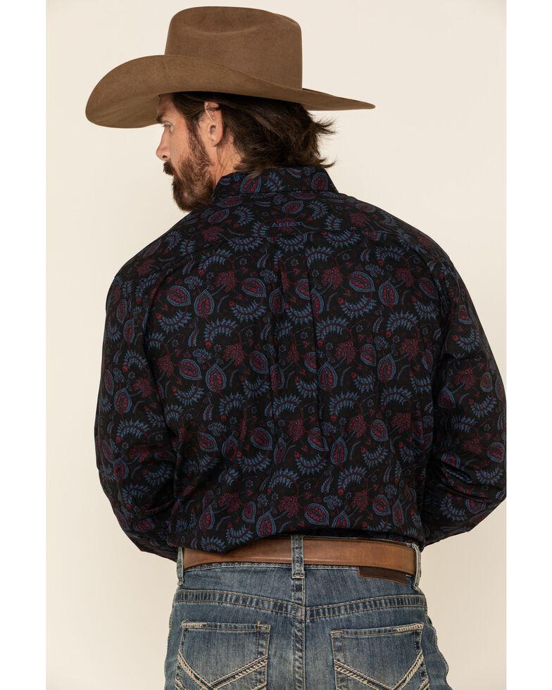 Ariat Men's Razin Stretch Paisley Print Long Sleeve Western Shirt - Big & Tall, Black, hi-res