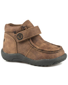 Roper Toddler Boys' Moc Brown Faux Leather Chukkas - Moc Toe, Brown, hi-res