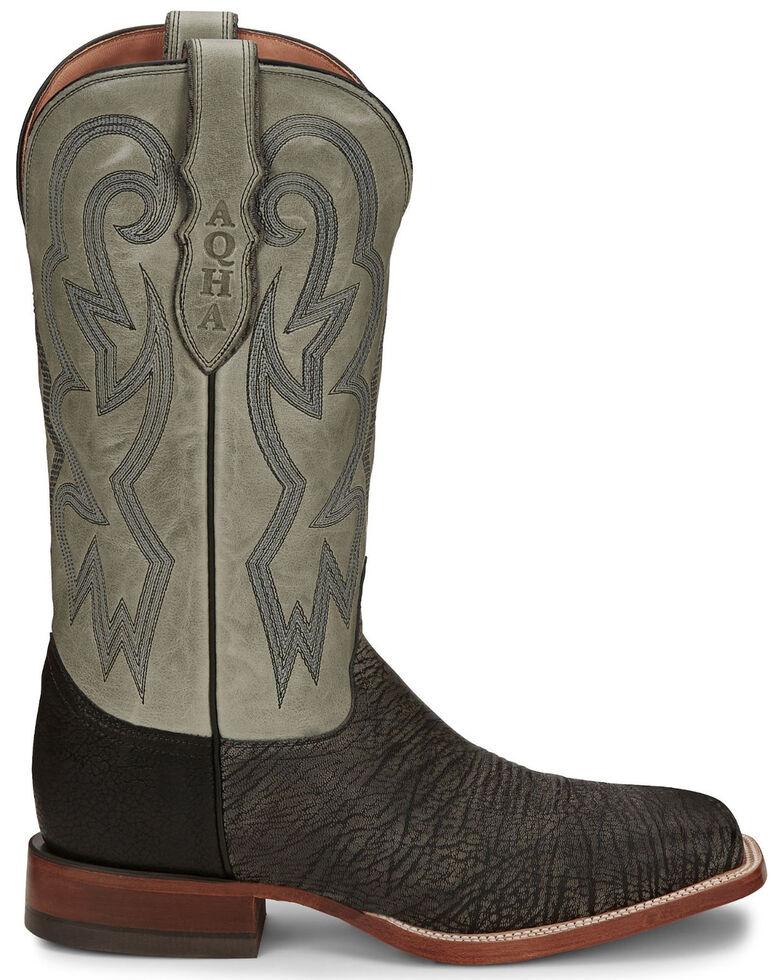 Justin Men's Mingus Grey Western Boots - Wide Square Toe, Grey, hi-res