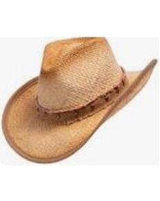 Henschel Men's Tan Texarkana Raffia Straw Western Outback Hat , Tan, hi-res