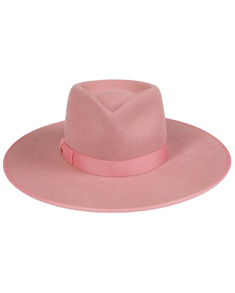 Lack Of Color Women's Pink Rose Rancher Fedora Hat , Pink, hi-res