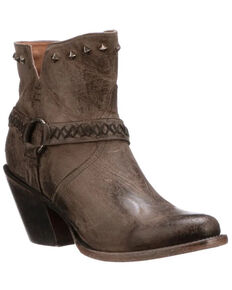 Lucchese Women's Ani Fashion Booties - Round Toe, Ash, hi-res