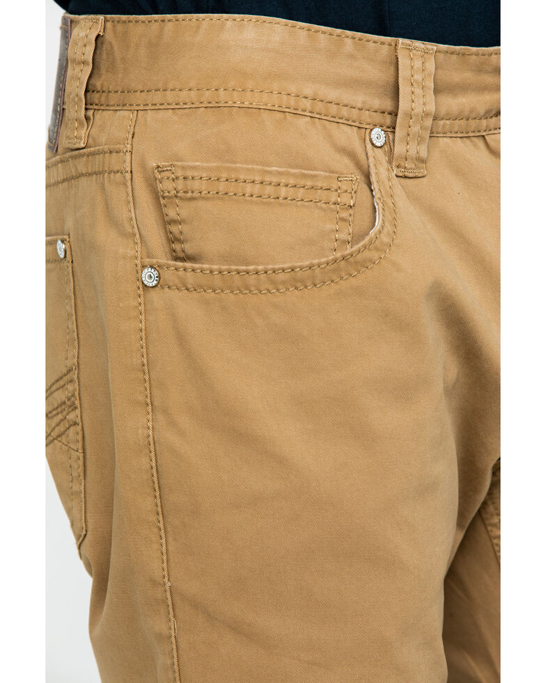 Rock & Roll Denim Men's Khaki W Stitch Double Barrel Straight Jeans , Beige/khaki, hi-res