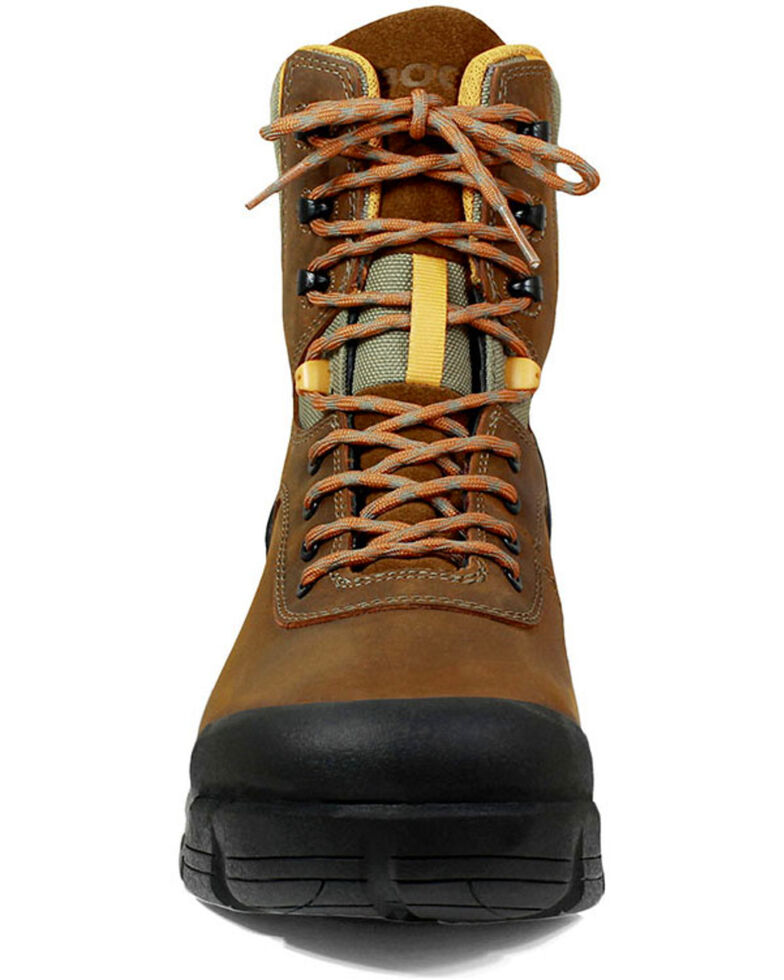 Bogs Men's Bedrock Waterproof Work Boots - Composite Toe, Brown, hi-res