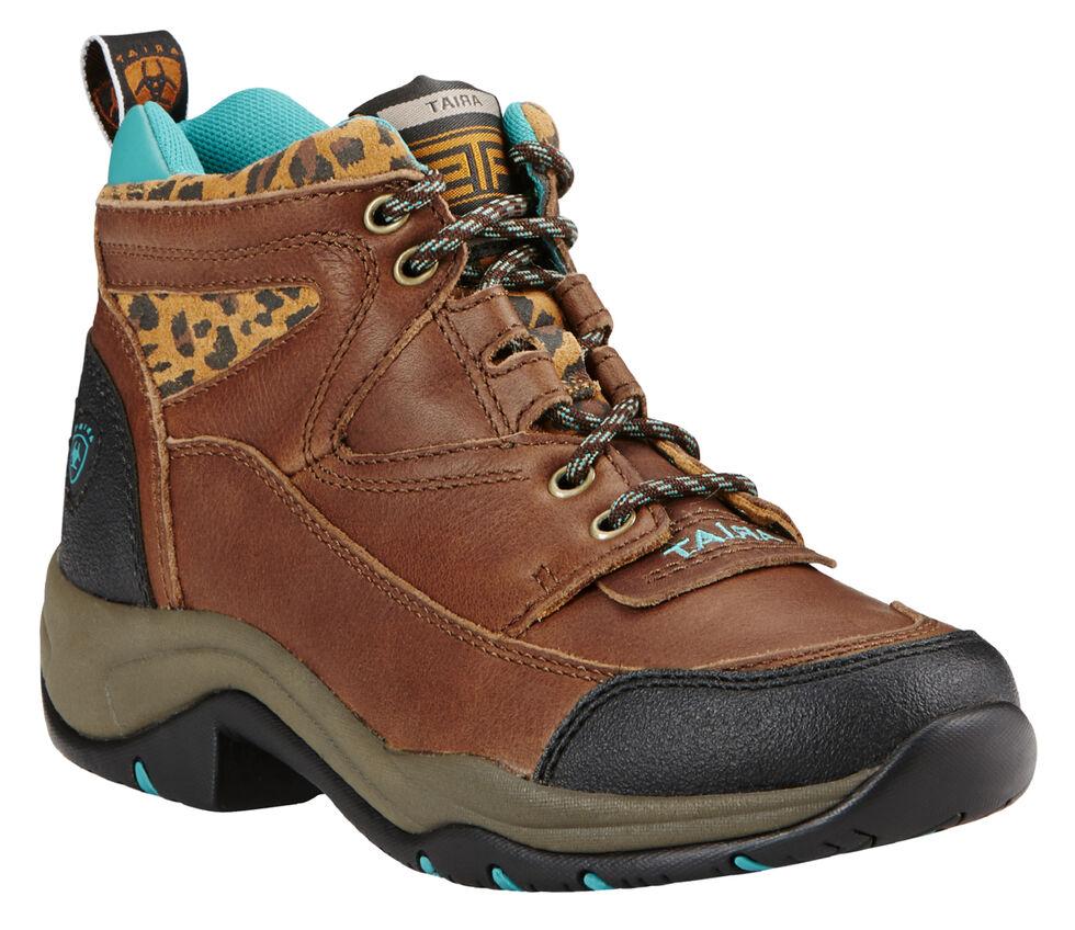 Ariat Women's Tundra Cheetah Terrain Boots - Round Toe, Brown, hi-res