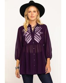 Ariat Women's Awakening Tunic, Purple, hi-res