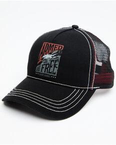 Cody James Men's Armed And Free Mesh Cap , Black, hi-res