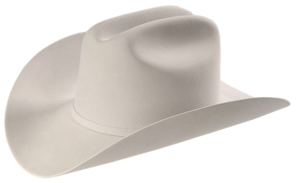 Larry Mahan 6X Real Fur Felt Western Hat, Platinum, hi-res