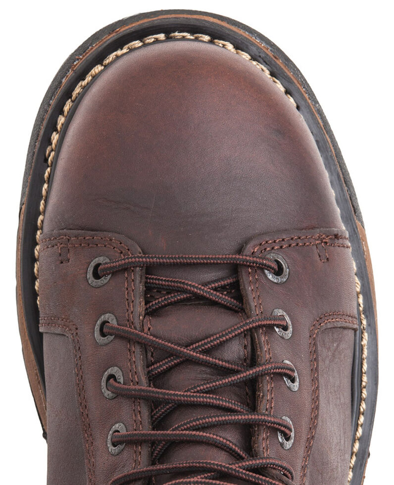 Rocky Ironclad Waterproof Lace-to-Toe Work Boots - Round Toe, Copper, hi-res