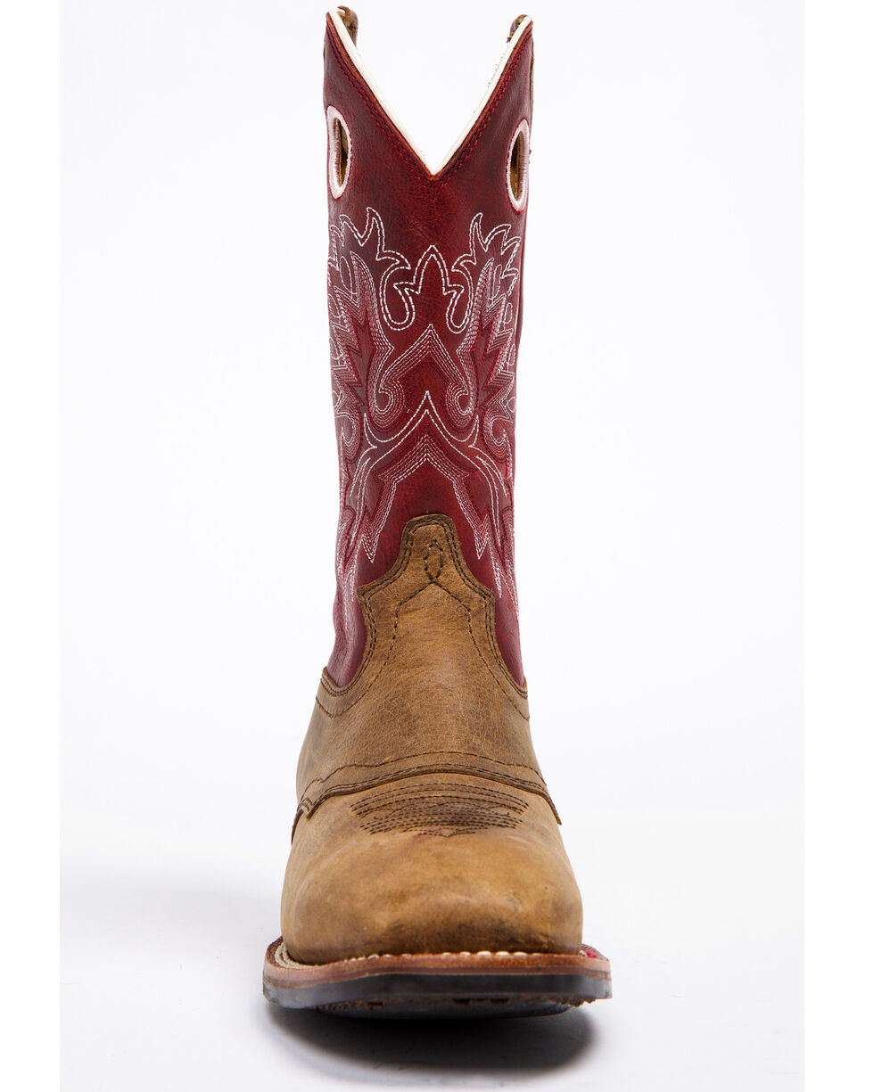 Shyanne Women's Red Xero Gravity Performance Boots - Wide Square Toe, Maroon, hi-res