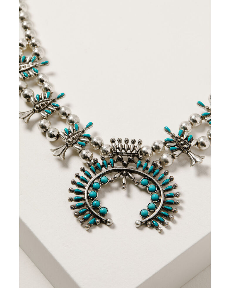 Shyanne Women's Wild Soul Squash Blossom Necklace, Silver, hi-res