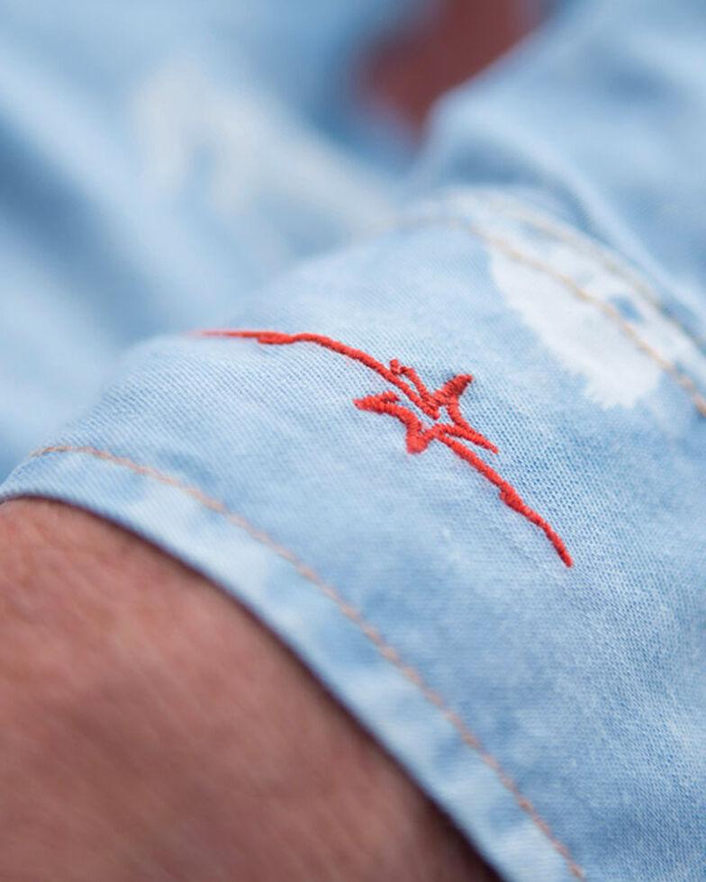 Ryan Michael Men's Bucking Horse Indigo Print Western Shirt, Indigo, hi-res
