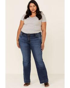 Wrangler Women's Embry Trouser Jeans - Plus, Blue, hi-res