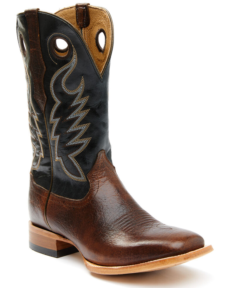 Cody James Men's Union Brown Foot Western Boots - Wide Square Toe, Brown, hi-res