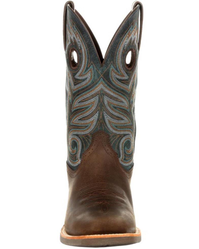 Durango Men's Rebel Pro Teal Western Boots - Square Toe, Brown, hi-res