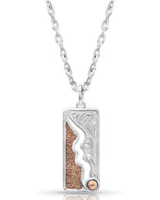Montana Silversmiths Women's Along The River Wild Necklace, Rose, hi-res