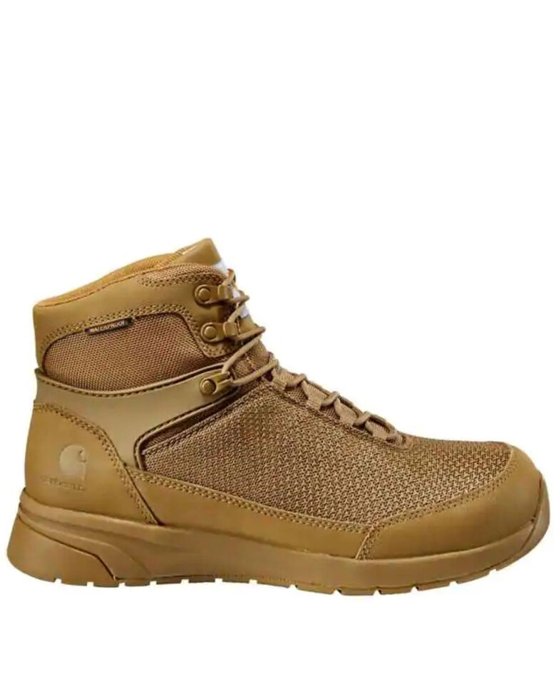 Carhartt Men's Force Waterproof Work Boots - Soft Toe, Coffee, hi-res