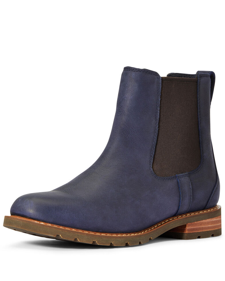 Ariat Women's Wexford Waterproof Chelsea Boots - Round Toe, Blue, hi-res