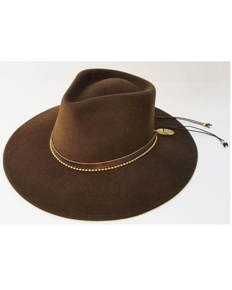 Nikki Beach Women's Brown Petra Wool Felt Hat , Brown, hi-res