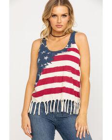 a527e5093da321 Others Follow Women's American Flag Fringe Tank Top