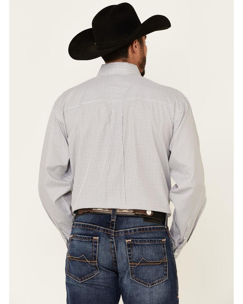 Cinch Men's White Small Plaid Tencel Long Sleeve Western Shirt , White, hi-res