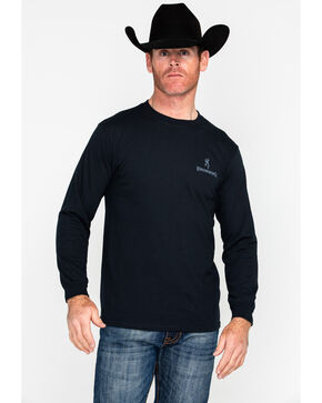 Browning Men's Americana Gun Graphic Long Sleeve Shirt , Black, hi-res