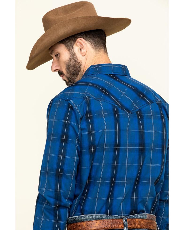 Cody James Men's Skedaddle Plaid Long Sleeve Western Shirt - Big , Royal Blue, hi-res