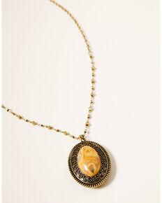 Shyanne Women's Winslow Reversible Medallion Necklace Set, Gold, hi-res