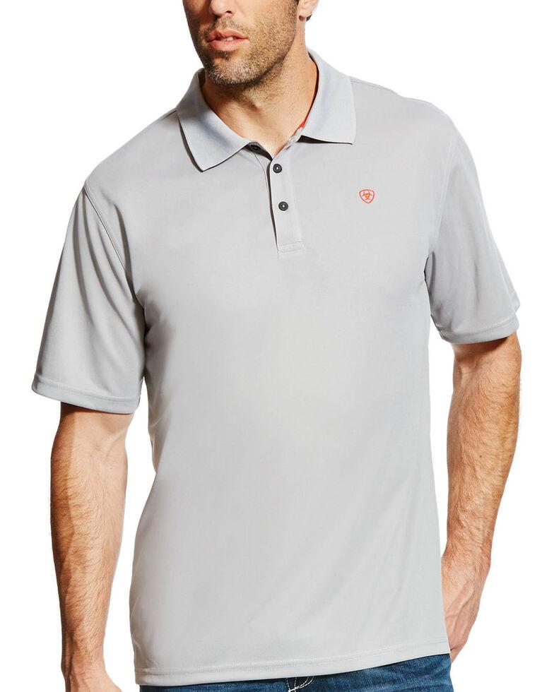 Ariat Men's Silver Tek SPF Short Sleeve Work Polo Shirt , Silver, hi-res
