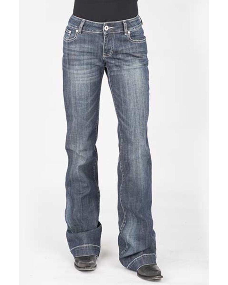 Stetson Women's 214 Medium Wash Trousers, Blue, hi-res