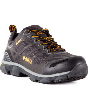 DeWalt Men's Crossfire Athletic Work Shoes - Aluminum Toe, Dark Grey, hi-res