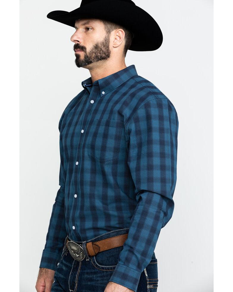 Cody James Core Men's Taladega Small Plaid Long Sleeve Western Shirt , Blue, hi-res