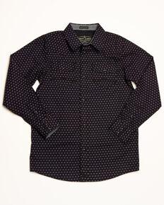 5ad3a25c Cody James Boys Scalene Geo Print Long Sleeve Western Shirt , Navy, hi-res