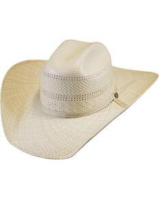 Justin Men's Ivory Bent Rail Banks Straw Cowboy Hat , Ivory, hi-res