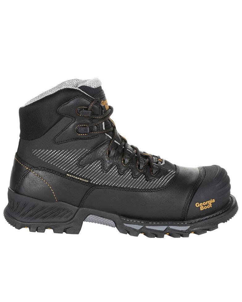 Georgia Boot Men's Rumbler Waterproof Hiker Boots - Composite Toe, Brown, hi-res