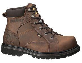 "Caterpillar 6"" Whiston Lace-Up Work Boots - Round Toe, Dark Brown, hi-res"