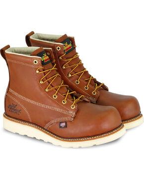 "Thorogood Men's 6"" American Heritage Emperor Toe Wedge Work Boots - Composite Toe, Brown, hi-res"