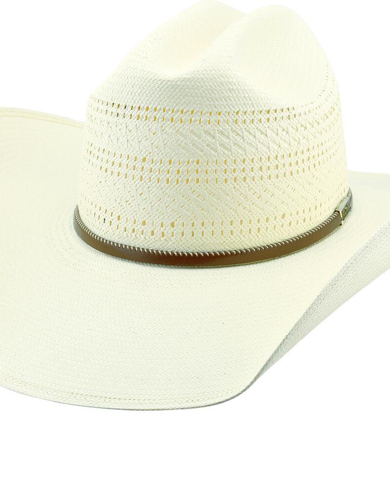 Larry Mahan Men's 10X Latigo Vent Crown Western Straw Hat , Ivory, hi-res