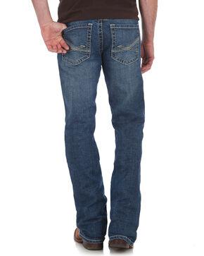 Wrangler Rock 47 Men's Slim Boot Cut Jeans , Blue, hi-res