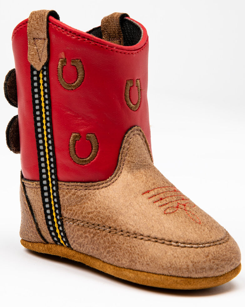 Cody James Infant Boys' Red Horseshoe Poppet Western Boots, Red, hi-res