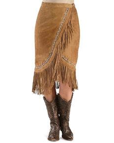 Kobler Leather Women's Yuma Beaded Skirt, Cognac, hi-res