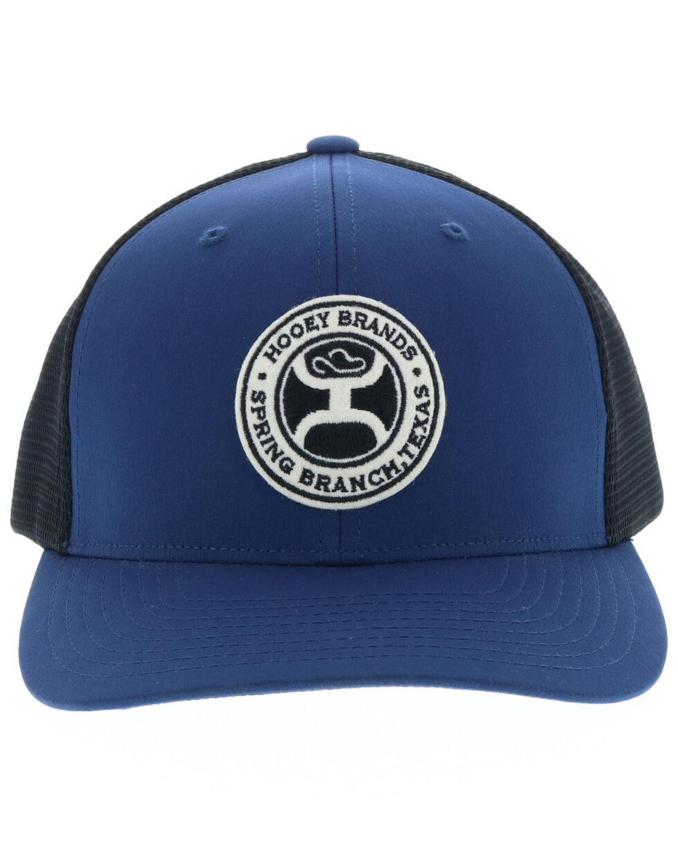 HOOey Men's Gaudalupe Ball Cap, Black/blue, hi-res