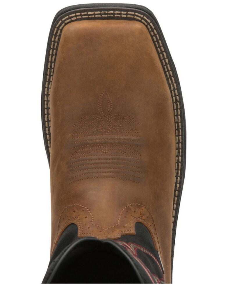Justin Men's Stampede Rush Western Work Boots - Composite Toe, Brown, hi-res