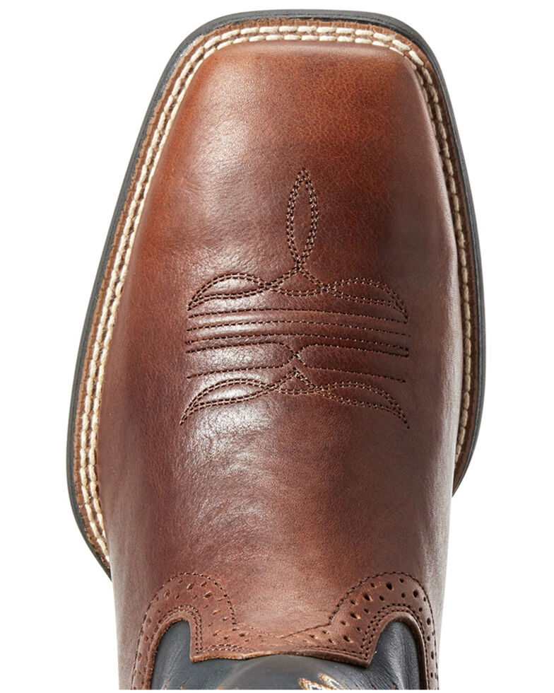 Ariat Men's Cognac Candy Western Boots - Square Toe, Black/brown, hi-res