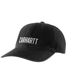 Carhartt Men's Force Full Back Canvas Logo Ball Cap , Black, hi-res