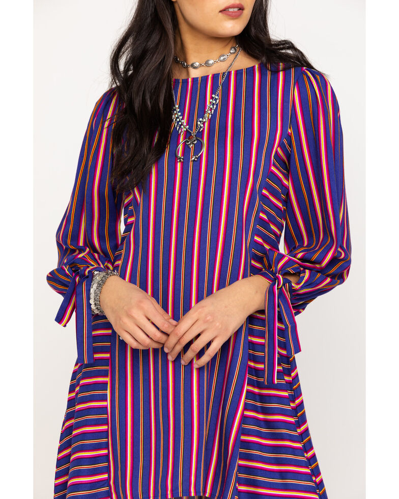 Rock & Roll Cowgirl Women's Striped Dress , Multi, hi-res